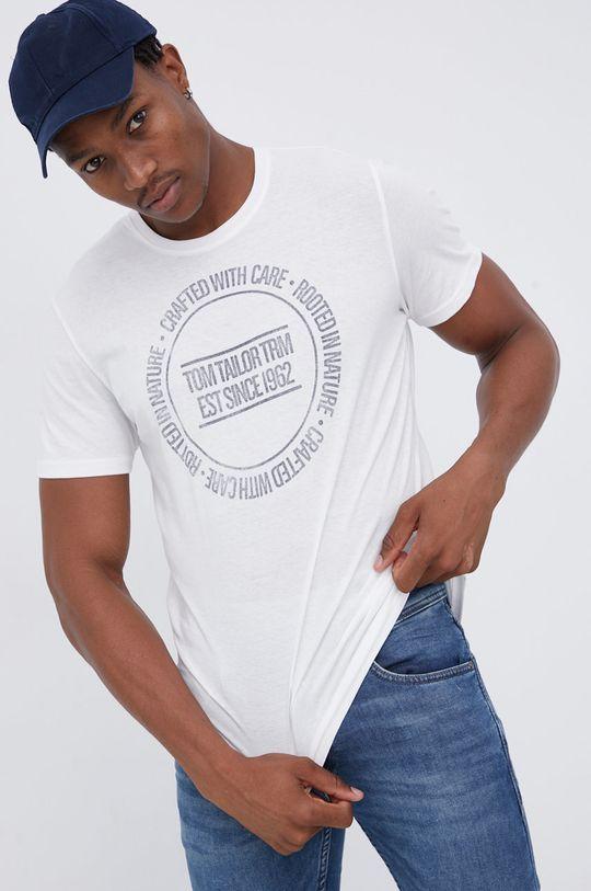 biały Tom Tailor - T-shirt bawełniany Męski