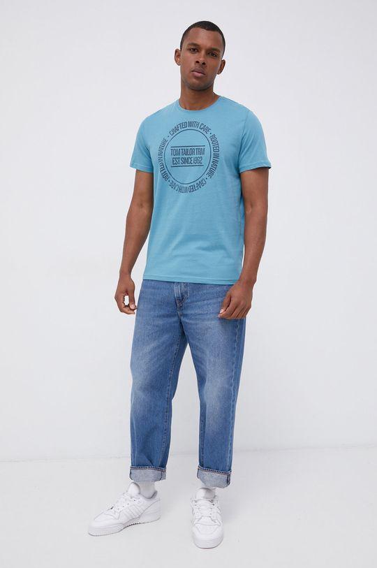 Tom Tailor - T-shirt bawełniany morski