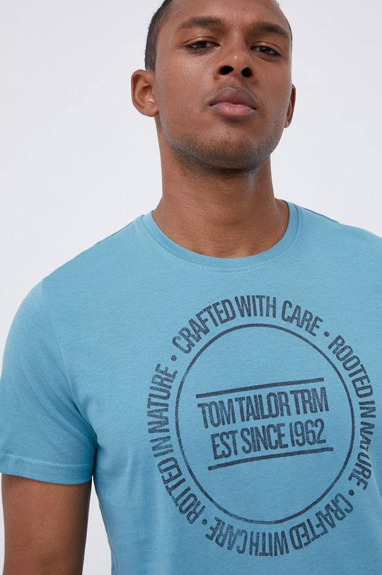 morski Tom Tailor - T-shirt bawełniany