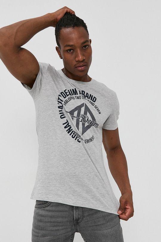 szary Tom Tailor - T-shirt Męski