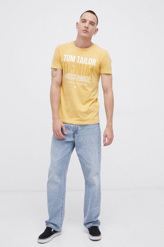 Tom Tailor - T-shirt żółty