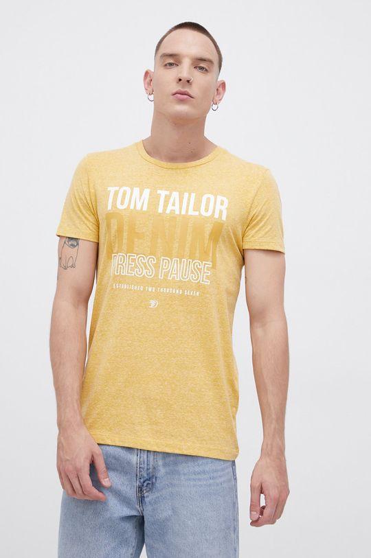 żółty Tom Tailor - T-shirt