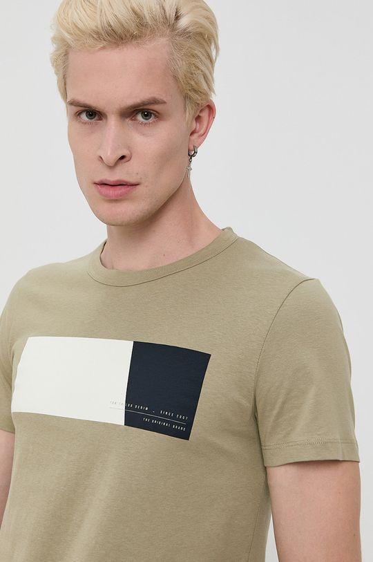 olivová Tom Tailor - Bavlnené tričko