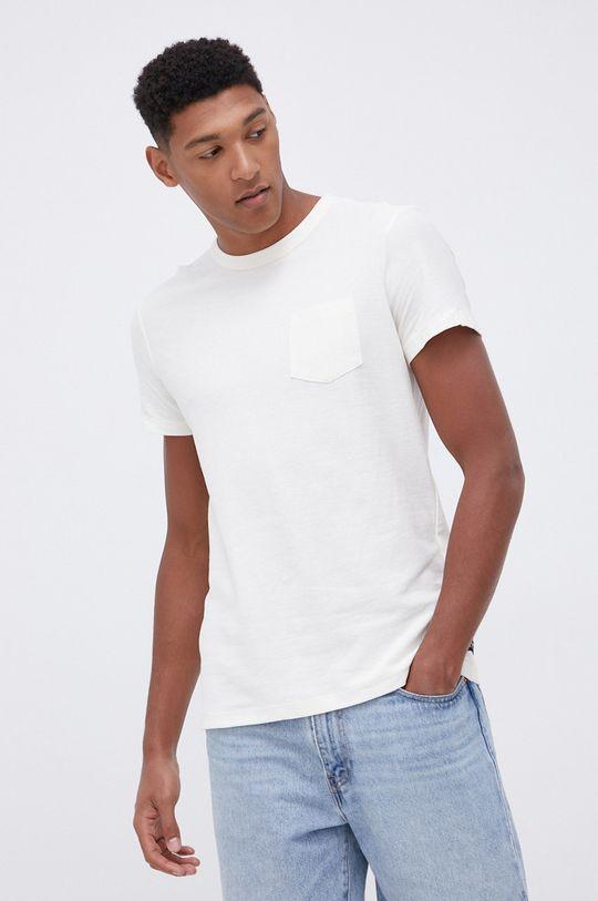 beżowy Tom Tailor - T-shirt bawełniany Męski