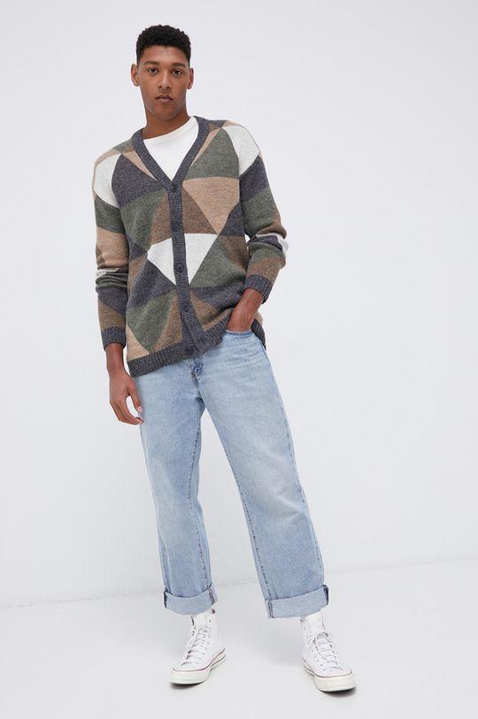 Tom Tailor - T-shirt bawełniany beżowy