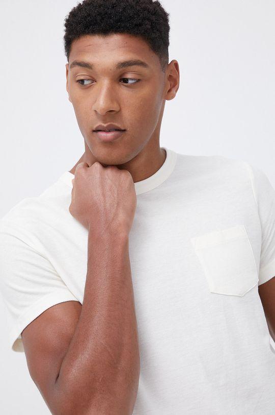 beżowy Tom Tailor - T-shirt bawełniany