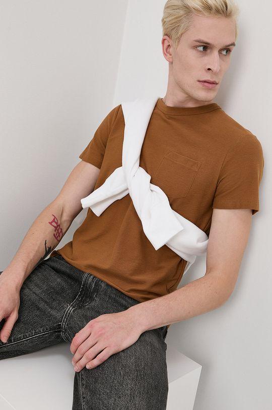 maro Tom Tailor - Tricou din bumbac De bărbați