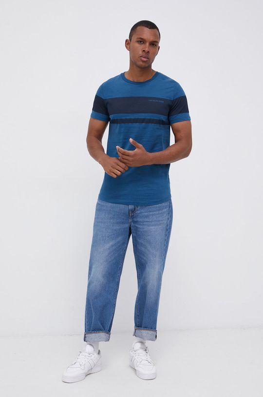Tom Tailor - T-shirt bawełniany niebieski