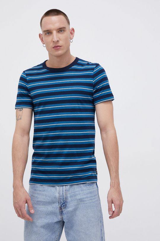 Tom Tailor - T-shirt bawełniany granatowy