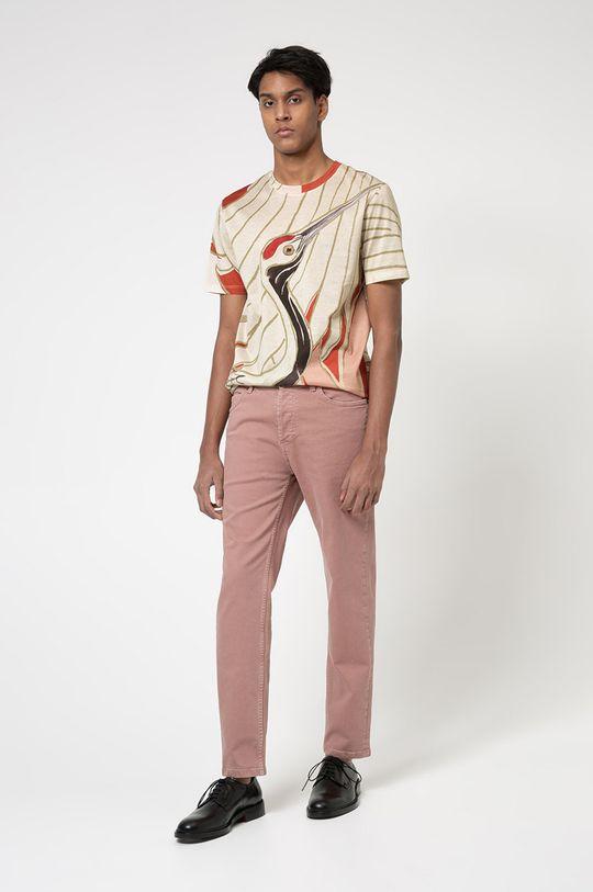 Hugo - Tricou roz rosu