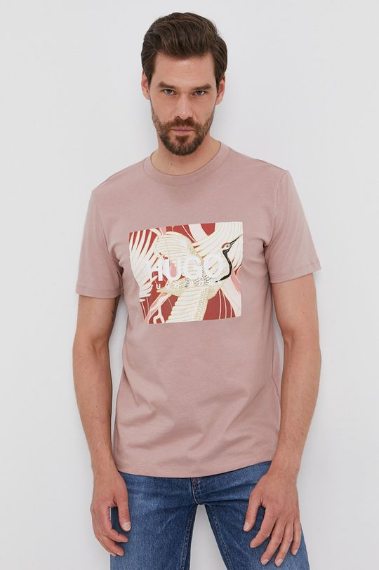 różowy Hugo - T-shirt Męski