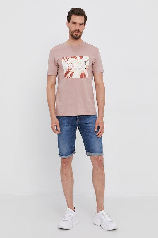Hugo - T-shirt różowy