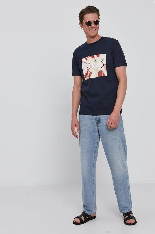Hugo - T-shirt granatowy