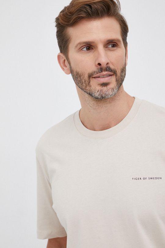 piaskowy Tiger Of Sweden - T-shirt bawełniany