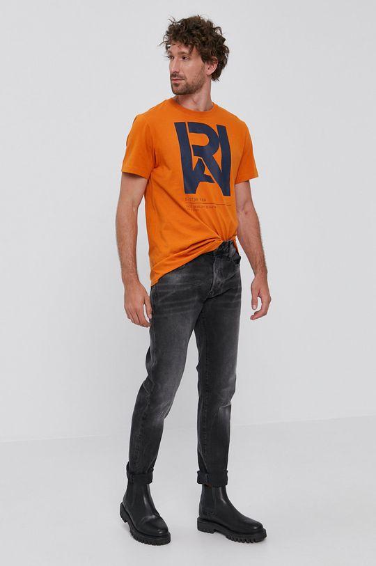 G-Star Raw - Tričko oranžová