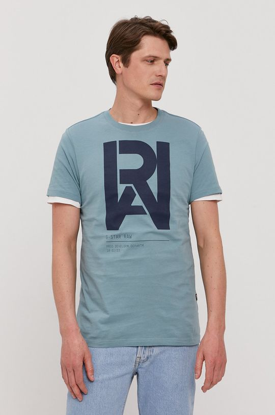 modrá G-Star Raw - Tričko Pánsky