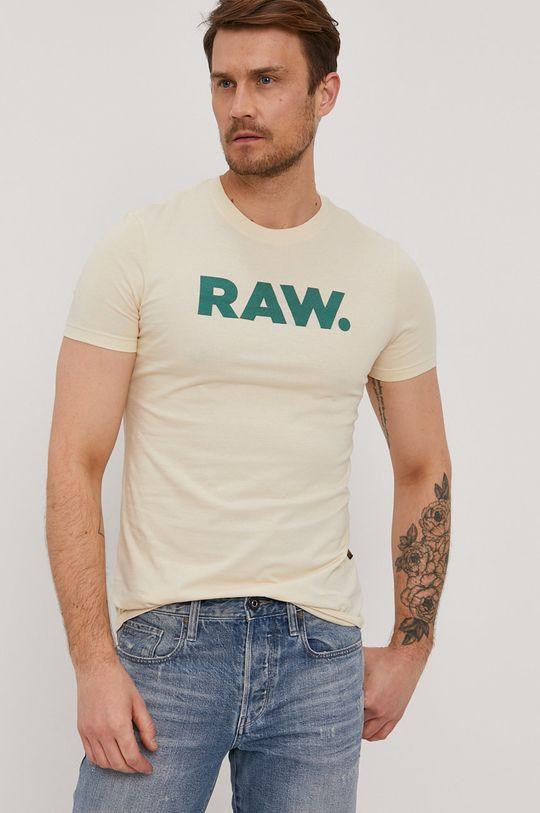 krémová G-Star Raw - Tričko Pánsky