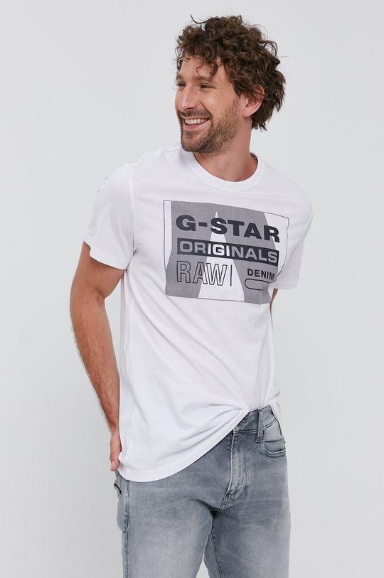 biela G-Star Raw - Tričko Pánsky
