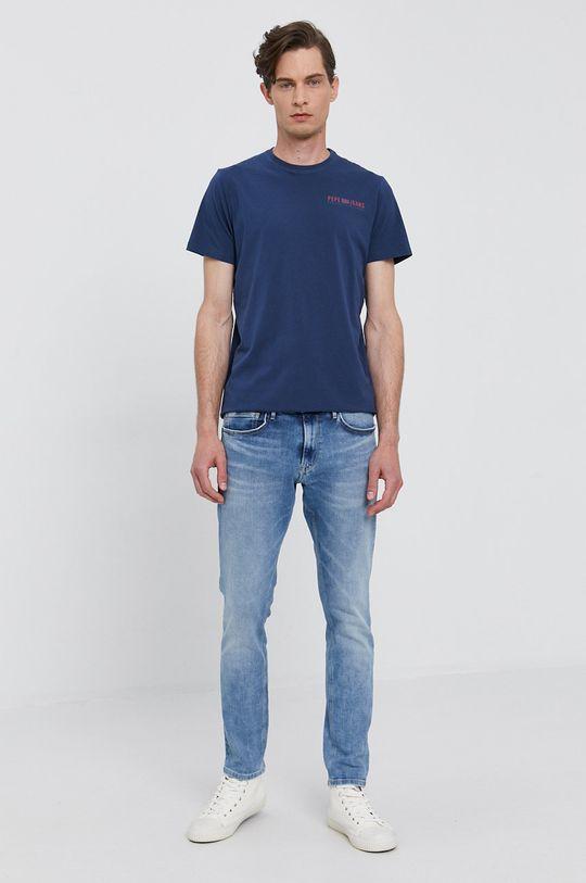 Pepe Jeans - T-shirt RAMON granatowy