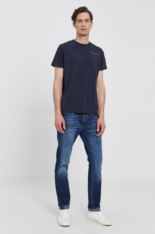 Pepe Jeans - Tričko Ramon tmavomodrá