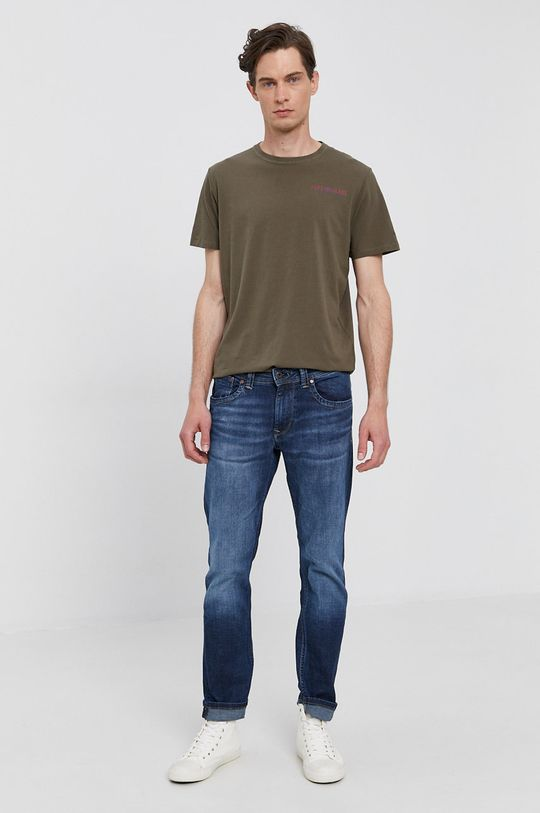 Pepe Jeans - Tričko RAMON tmavozelená
