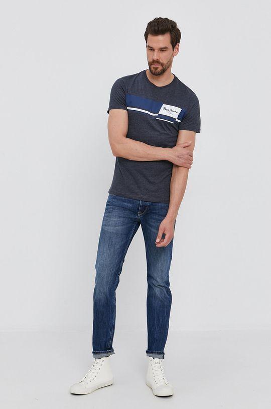 Pepe Jeans - Tričko KADE námořnická modř