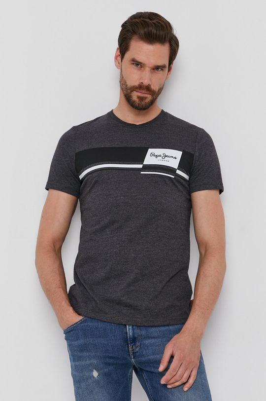 szary Pepe Jeans - T-shirt Kade Męski