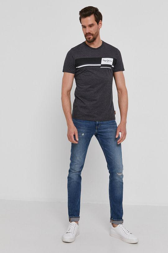 Pepe Jeans - T-shirt Kade szary