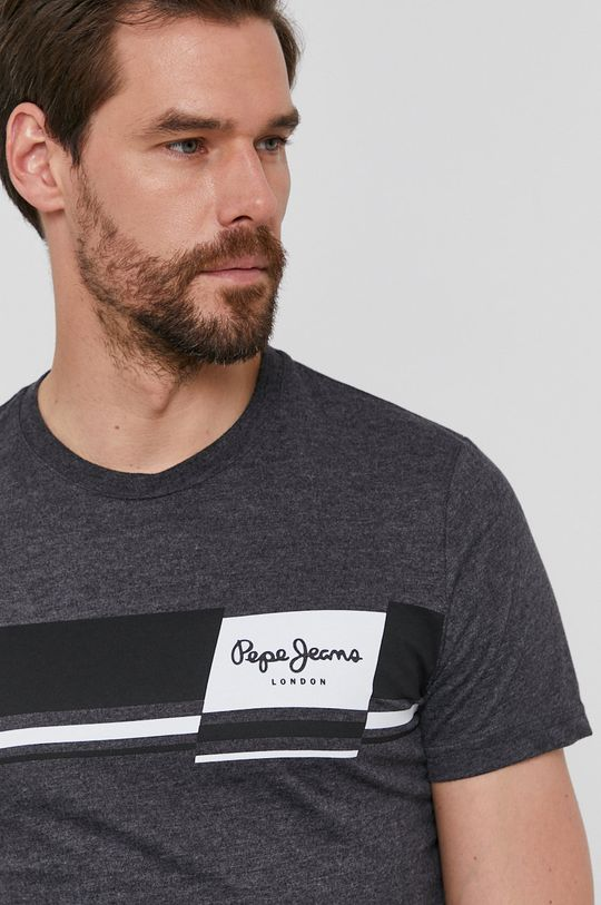 szary Pepe Jeans - T-shirt Kade