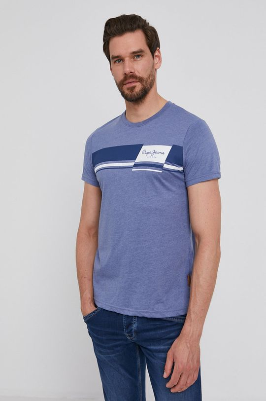 fioletowy Pepe Jeans - T-shirt Kade Męski