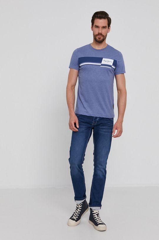 Pepe Jeans - T-shirt Kade fioletowy