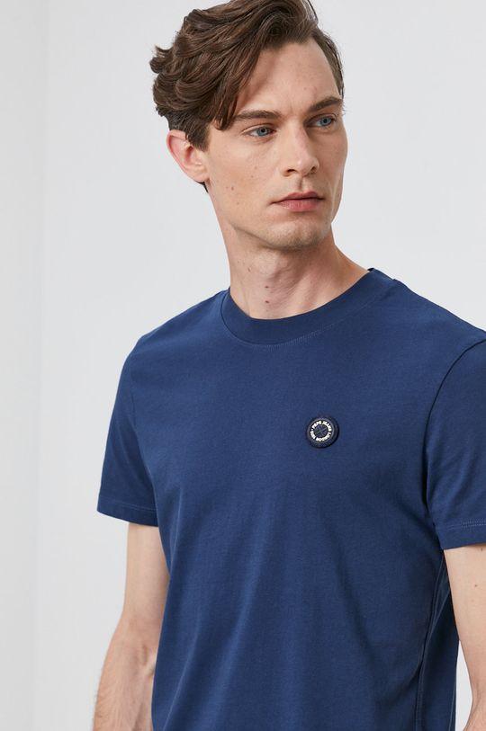 granatowy Pepe Jeans - T-shirt WALLACE Męski