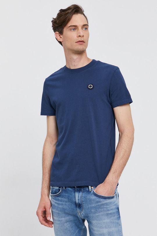 granatowy Pepe Jeans - T-shirt WALLACE