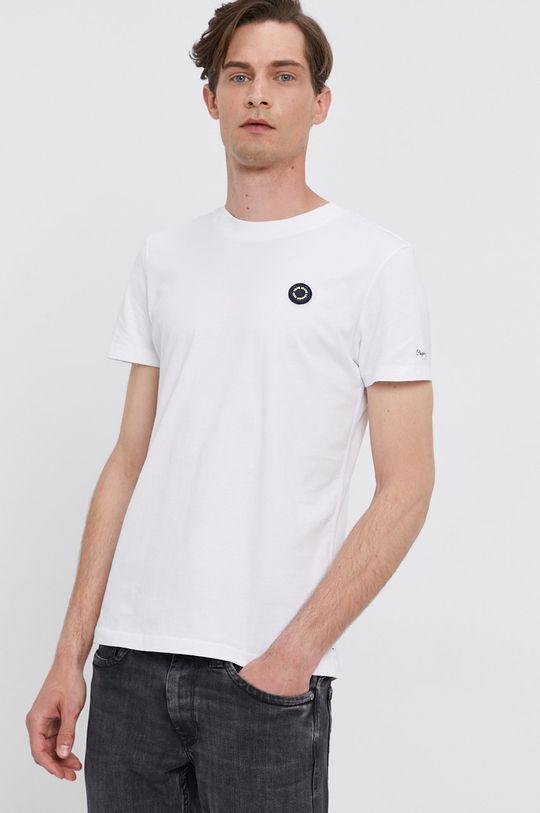 biela Pepe Jeans - Tričko WALLACE Pánsky
