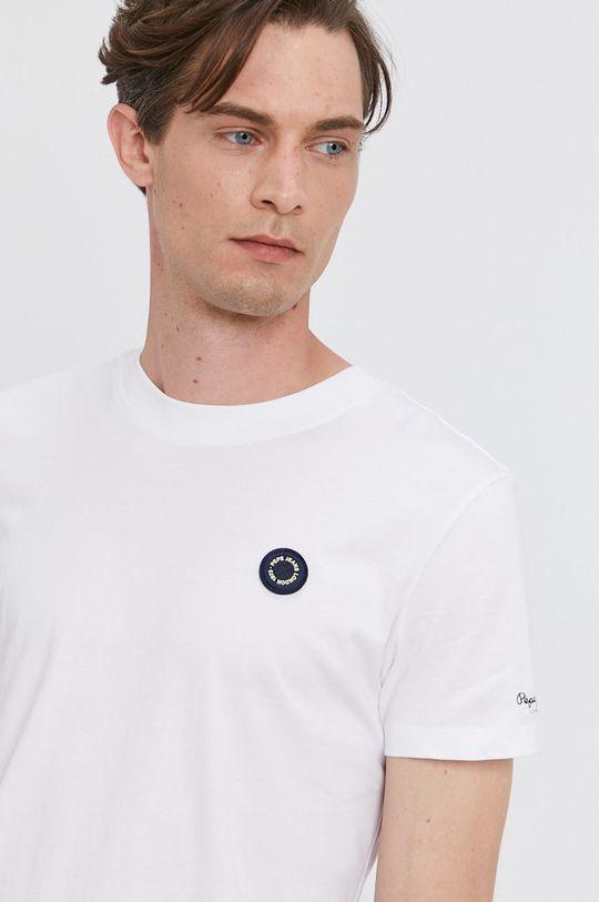 biela Pepe Jeans - Tričko WALLACE
