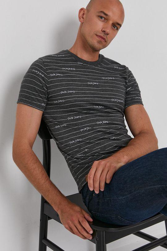 szary Pepe Jeans - T-shirt Kif Męski