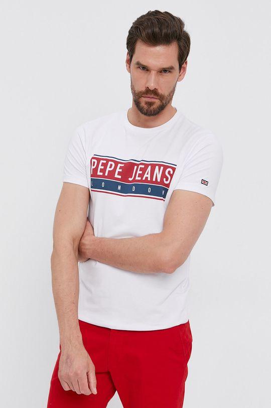 bílá Pepe Jeans - Tričko JAYO Pánský