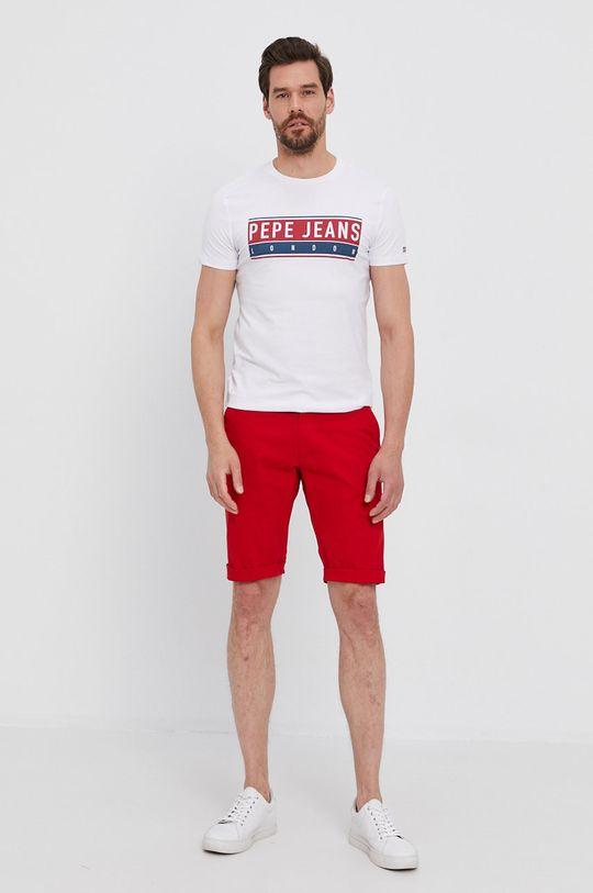 Pepe Jeans - Tričko JAYO bílá
