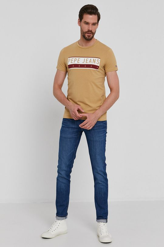 Pepe Jeans - T-shirt Jayo beżowy