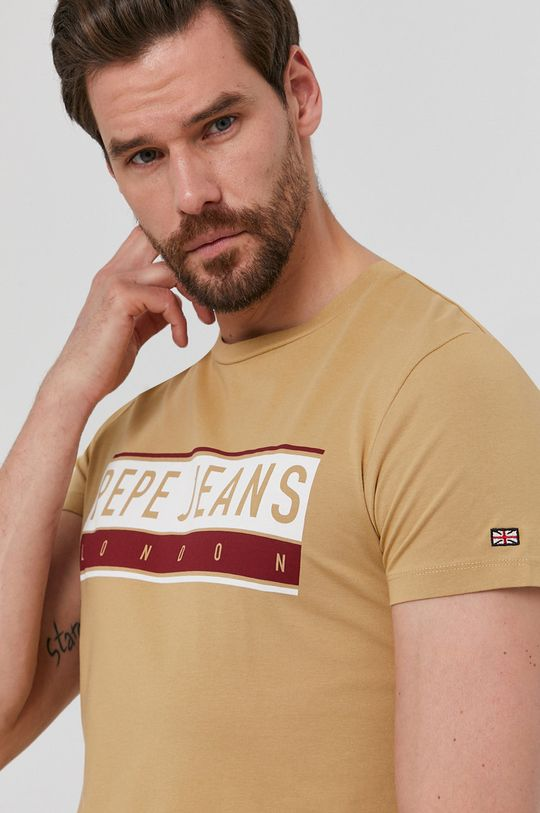 beżowy Pepe Jeans - T-shirt Jayo