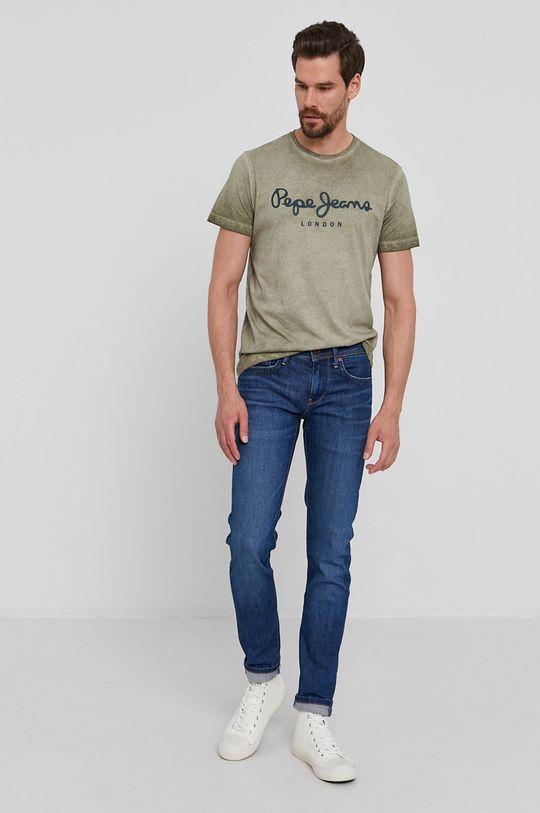 Pepe Jeans - Tričko West Sir New tmavě zelená