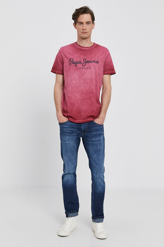 Pepe Jeans - T-shirt West czerwony