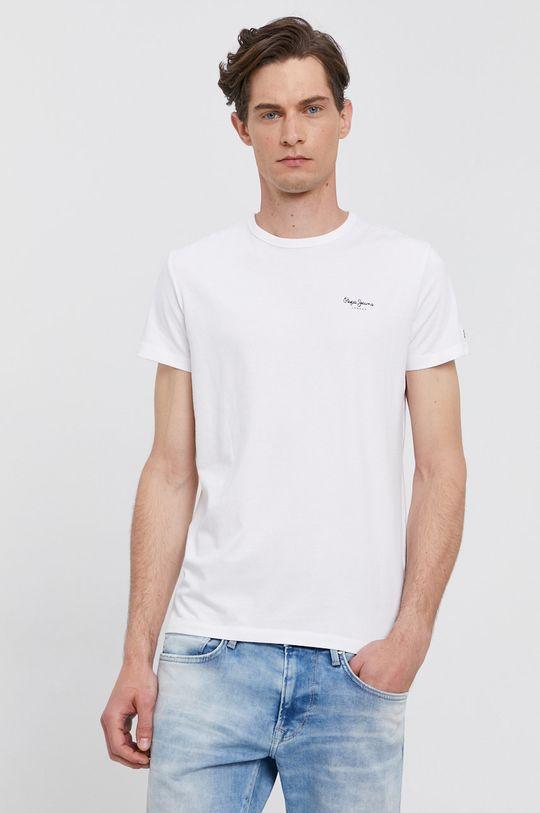 bílá Pepe Jeans - Tričko ORIGINAL BASIC Pánský