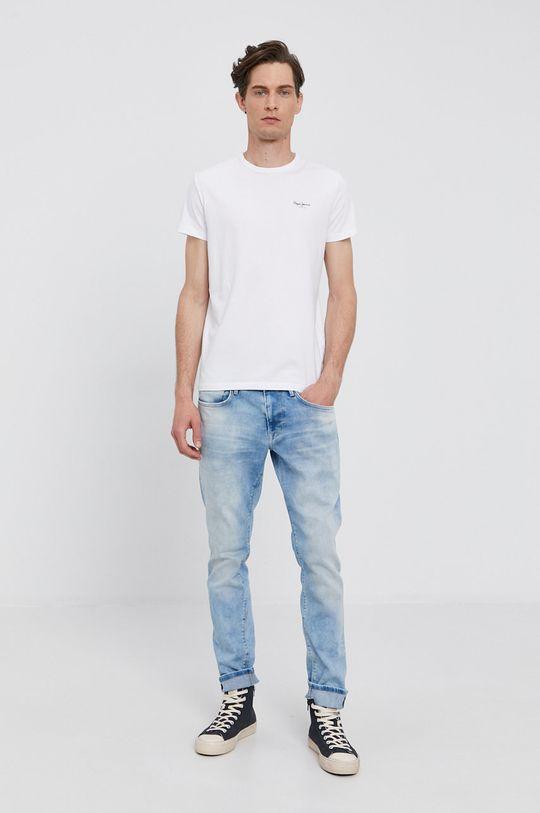 Pepe Jeans - Tričko ORIGINAL BASIC bílá