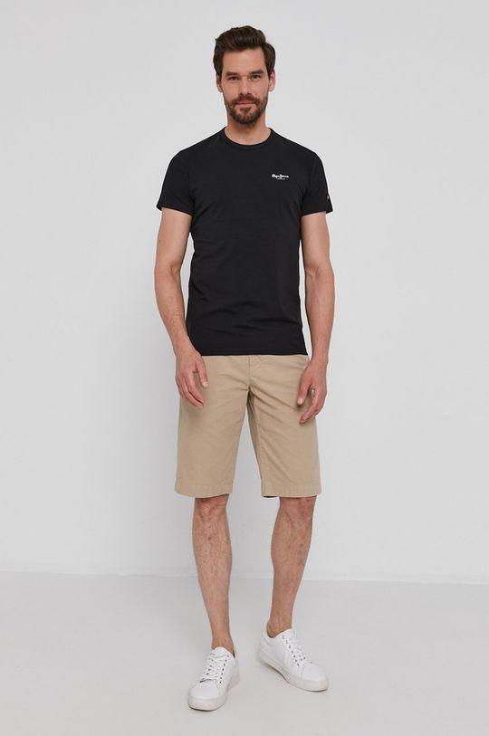 Pepe Jeans - T-shirt Basic czarny