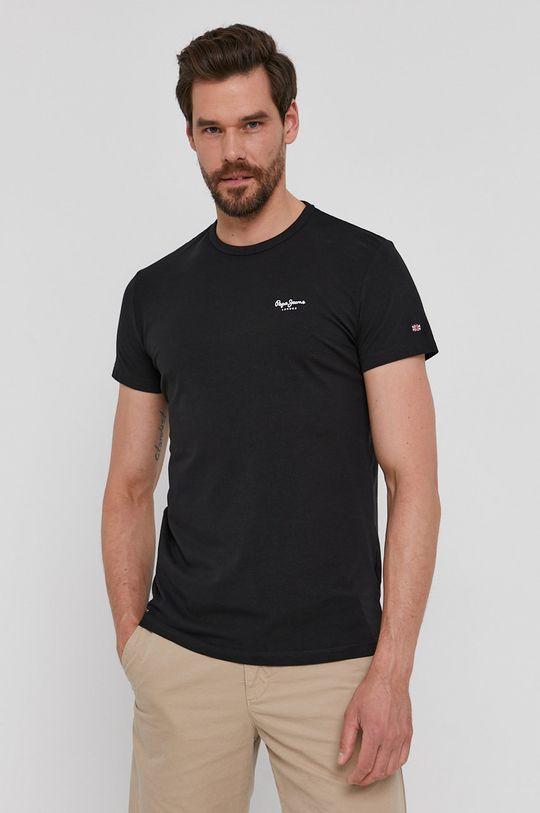 czarny Pepe Jeans - T-shirt Basic