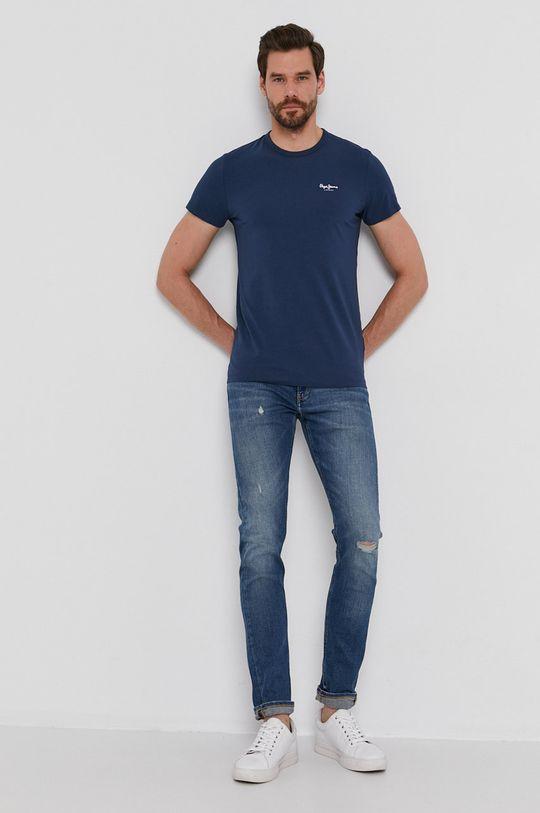 Pepe Jeans - T-shirt Basic granatowy