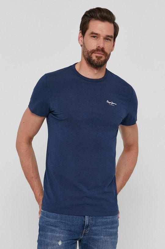 granatowy Pepe Jeans - T-shirt Basic
