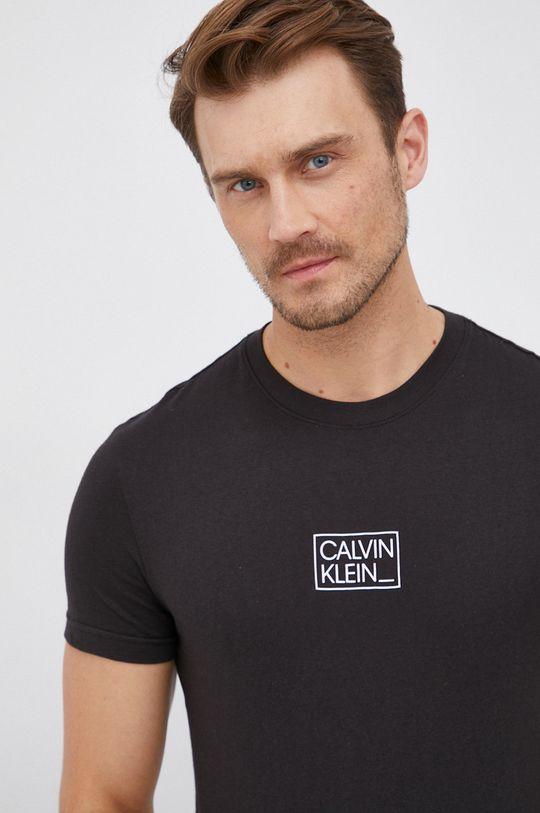 czarny Calvin Klein - T-shirt bawełniany