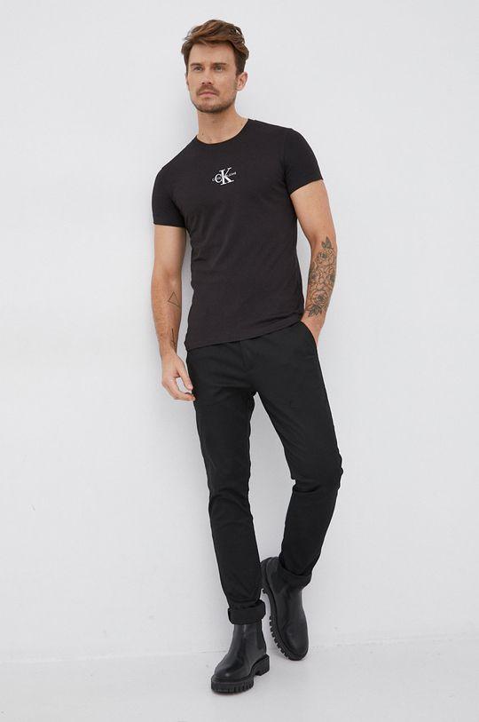 Calvin Klein Jeans - T-shirt bawełniany czarny